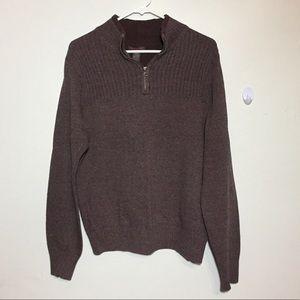 Dockers Brown 1/2 Zip Sweater M